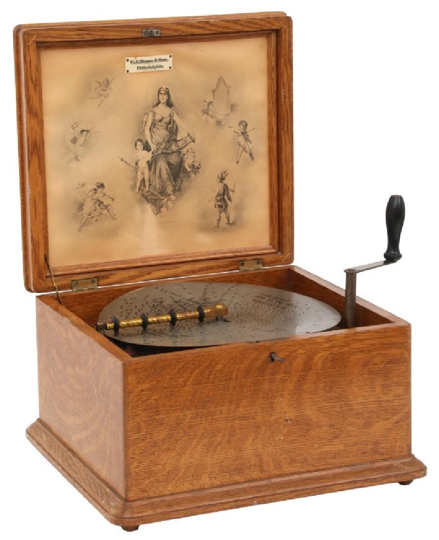 Oak Regina Model 20 Disc Music Box