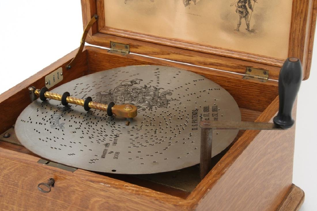 Oak Regina Model 20 Disc Music Box - 2