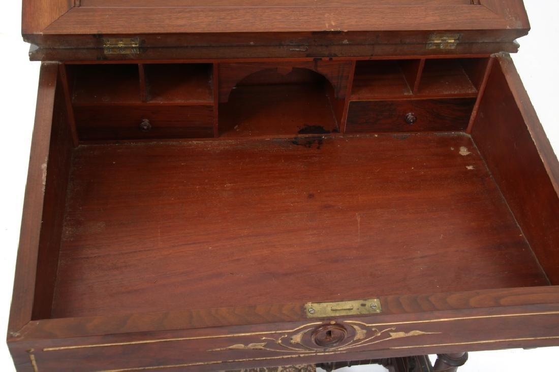 19th Century Gothic Walnut Davenport Desk - 10