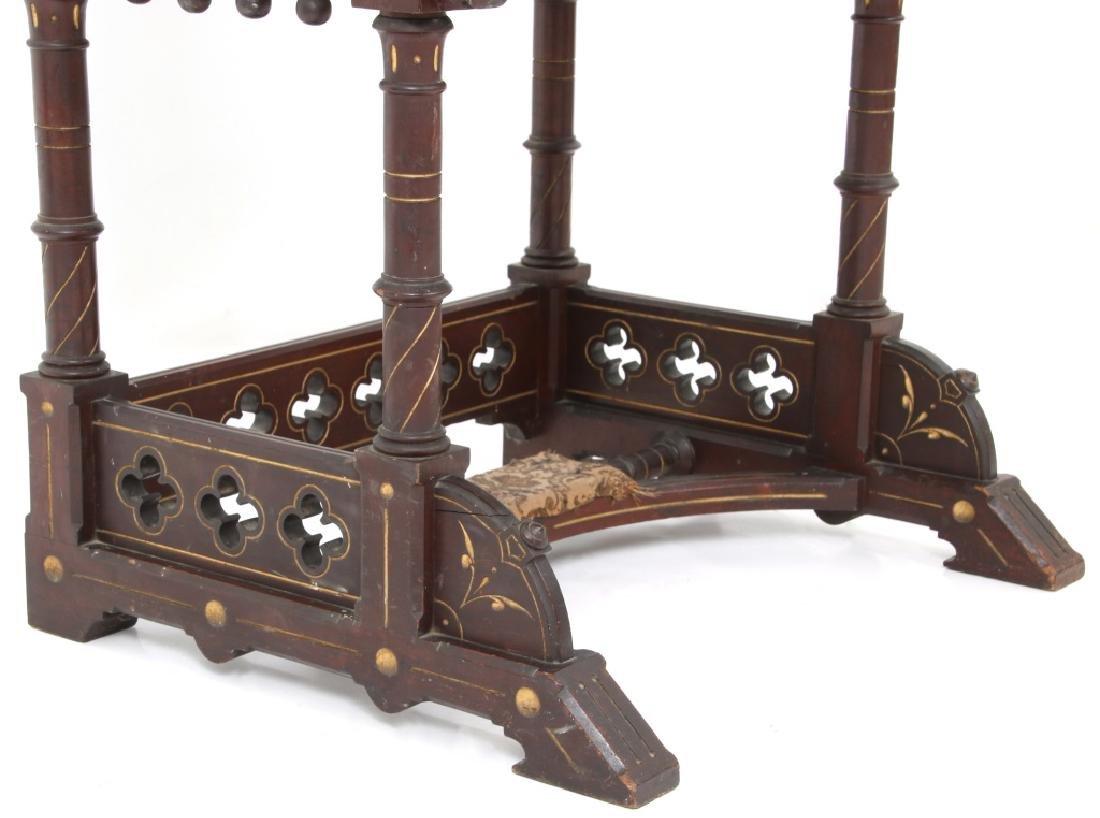 19th Century Gothic Walnut Davenport Desk - 4