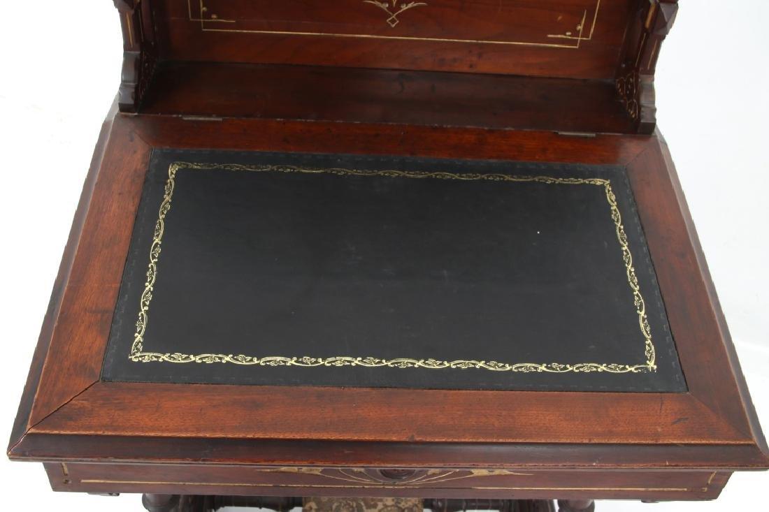 19th Century Gothic Walnut Davenport Desk - 6