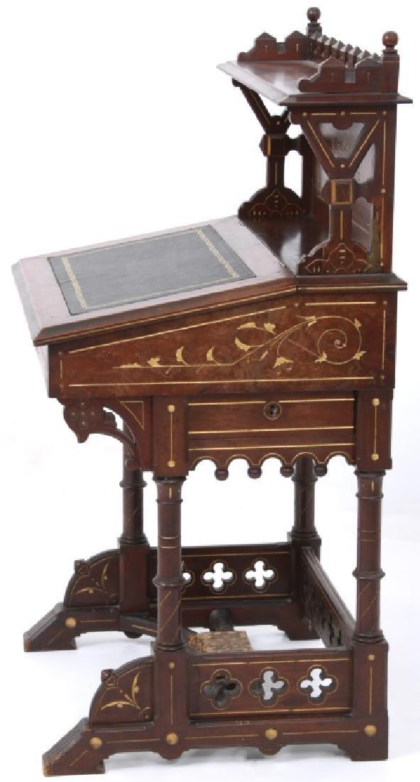 19th Century Gothic Walnut Davenport Desk - 7