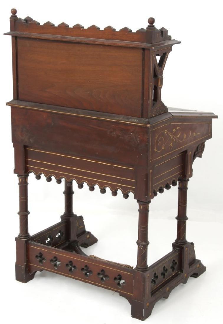 19th Century Gothic Walnut Davenport Desk - 9