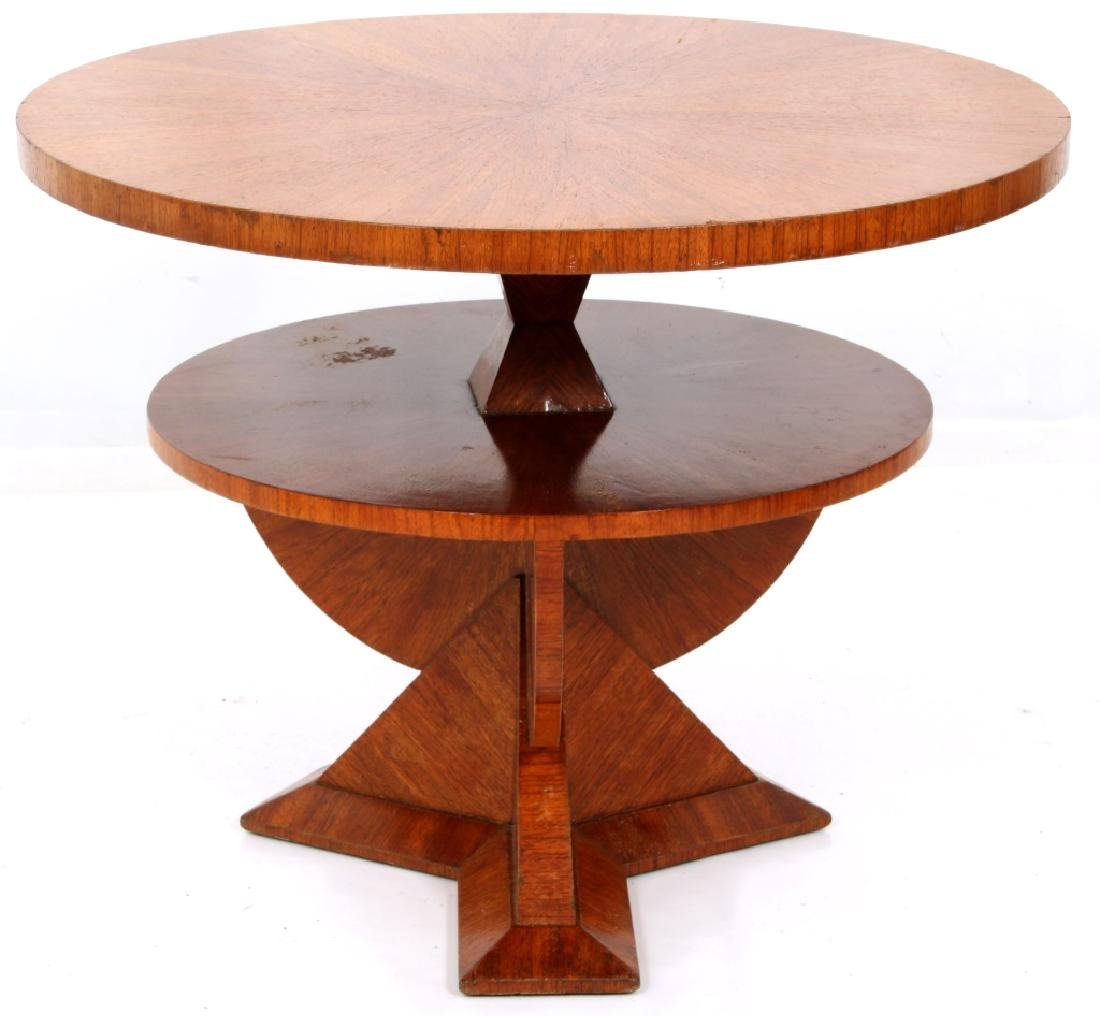 Czech Rosewood 35 Inch 2 Tier Cubist Table - 2