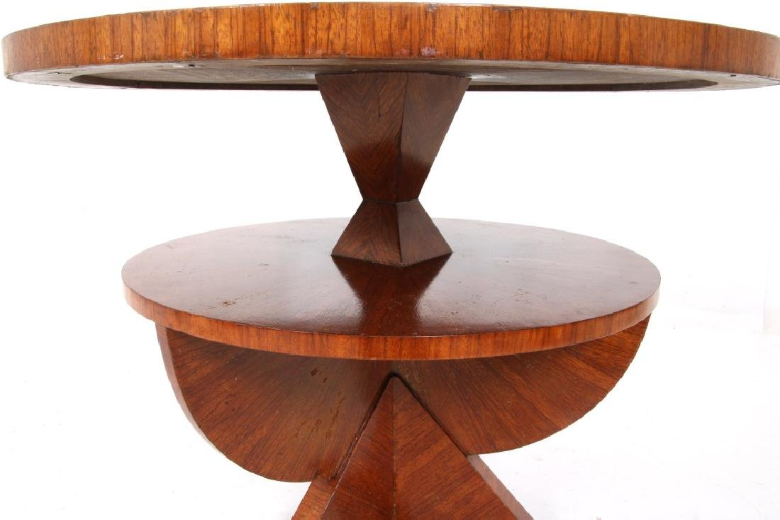 Czech Rosewood 35 Inch 2 Tier Cubist Table - 5