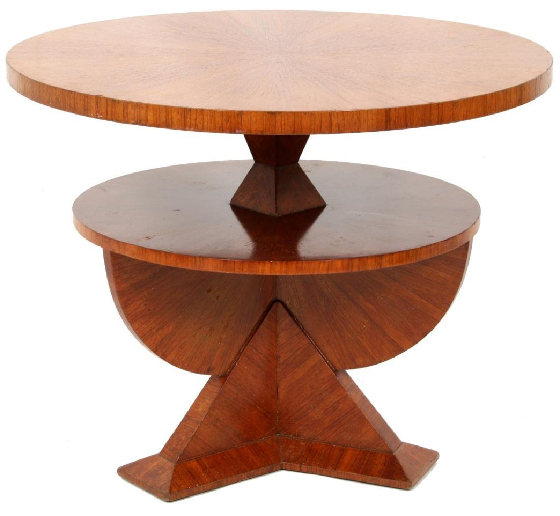 Czech Rosewood 35 Inch 2 Tier Cubist Table - 7