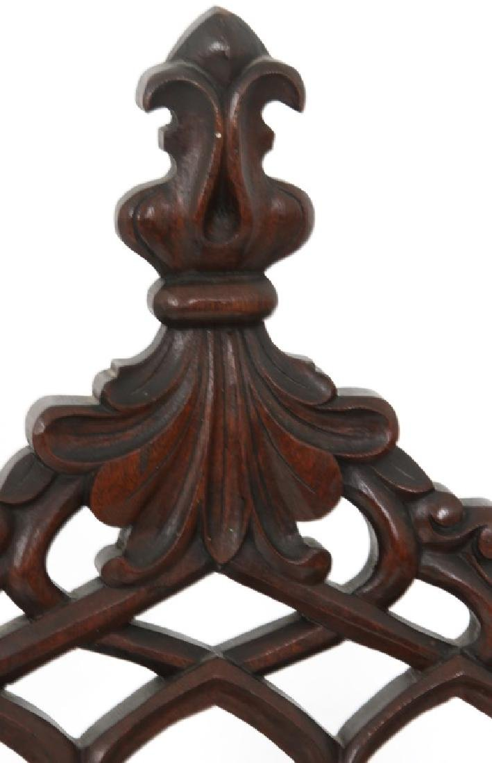 Pair of American Mahogany Gothic Hall Chairs - 3