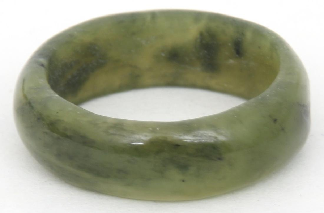 Green Jade Beaded Necklace & Ring - 3