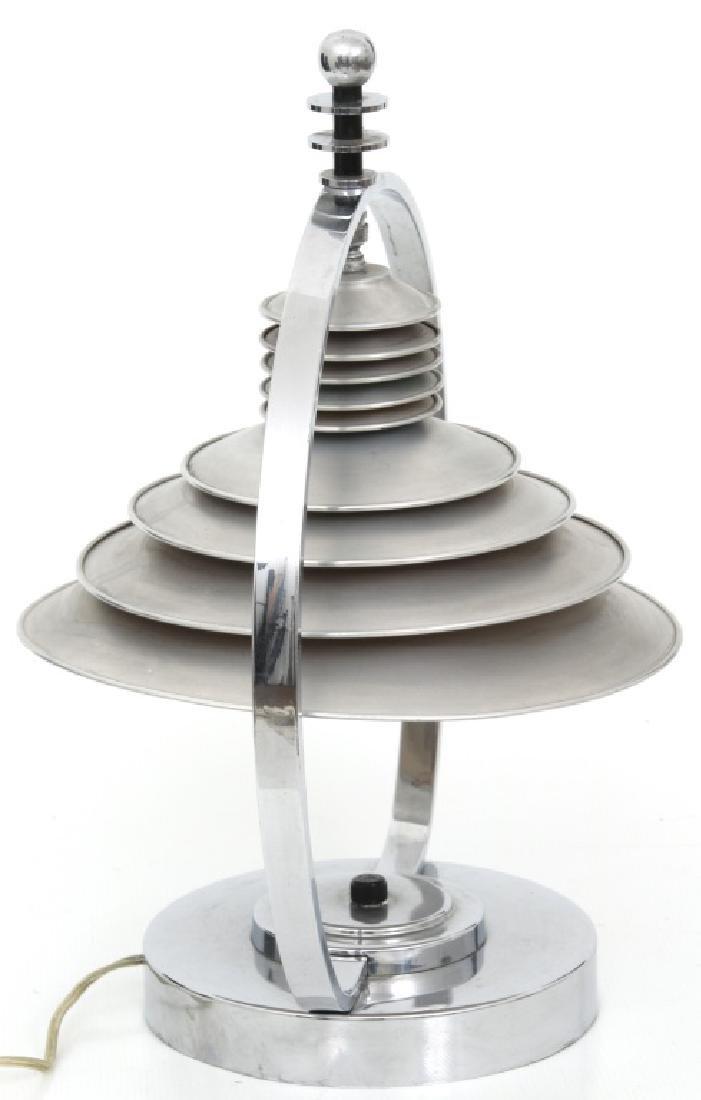 Markel Co. Machine Age Moderne Harp Table Lamp - 4