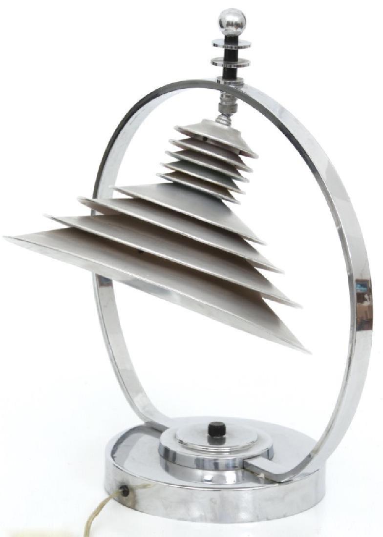 Markel Co. Machine Age Moderne Harp Table Lamp - 5