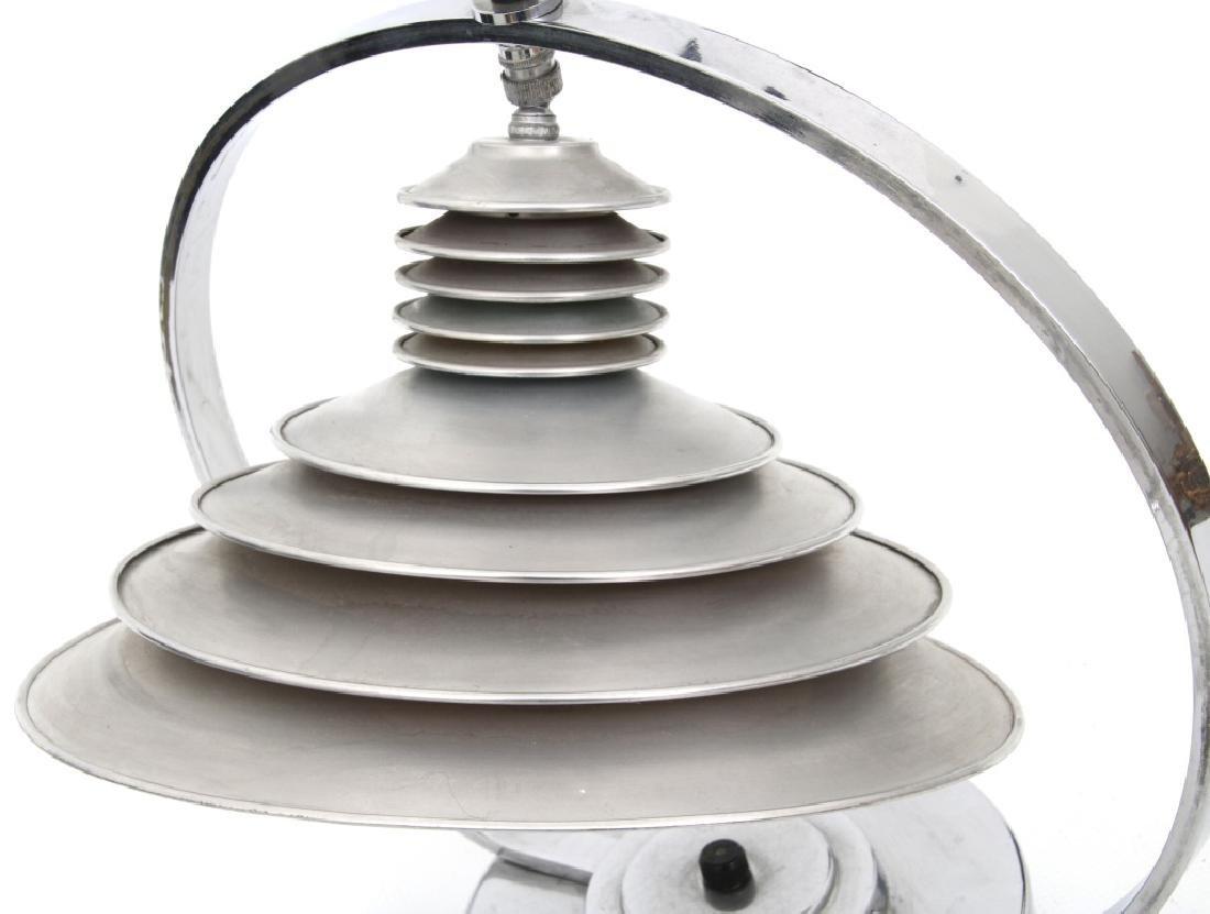 Markel Co. Machine Age Moderne Harp Table Lamp - 6
