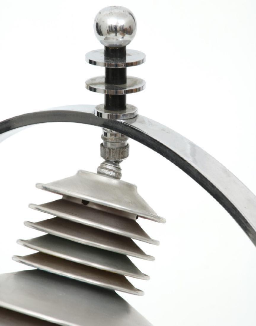 Markel Co. Machine Age Moderne Harp Table Lamp - 7