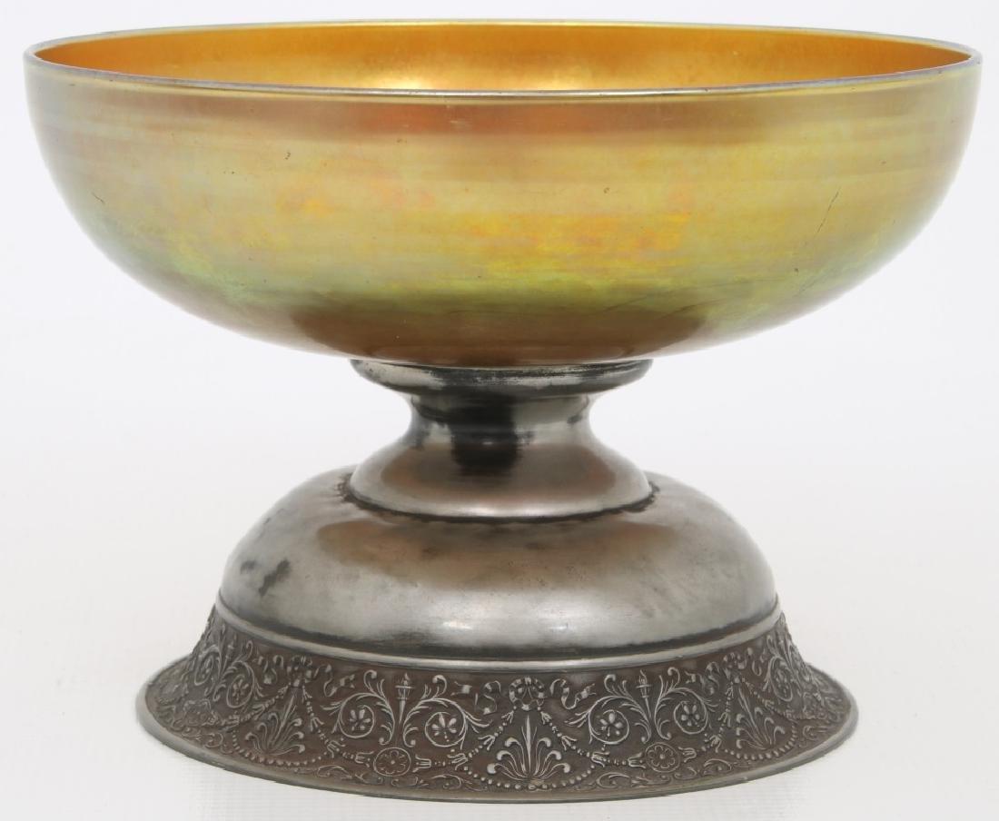 Steuben Aurene Footed Art Glass Bowl