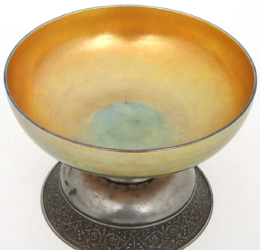 Steuben Aurene Footed Art Glass Bowl - 3