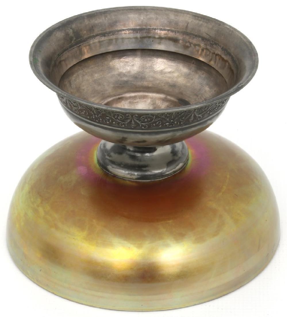 Steuben Aurene Footed Art Glass Bowl - 4