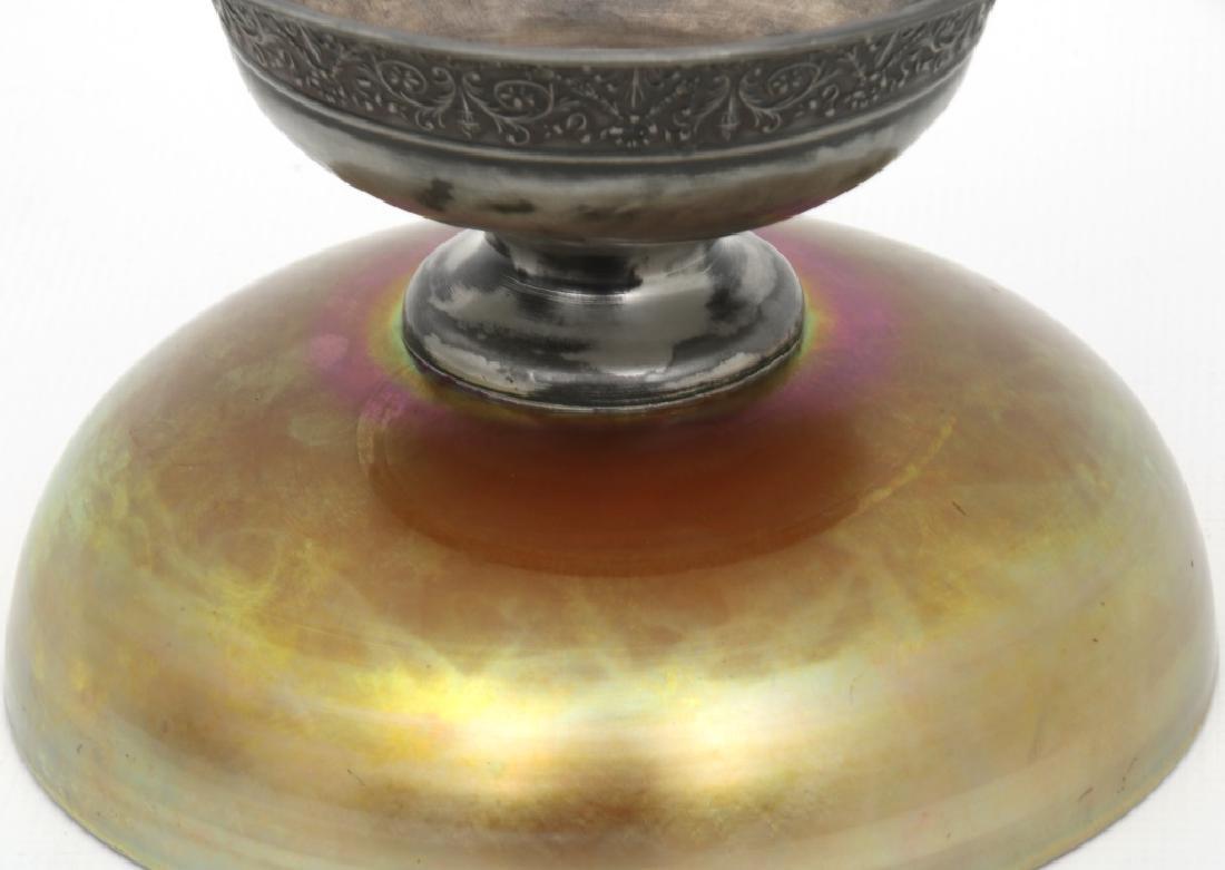 Steuben Aurene Footed Art Glass Bowl - 6
