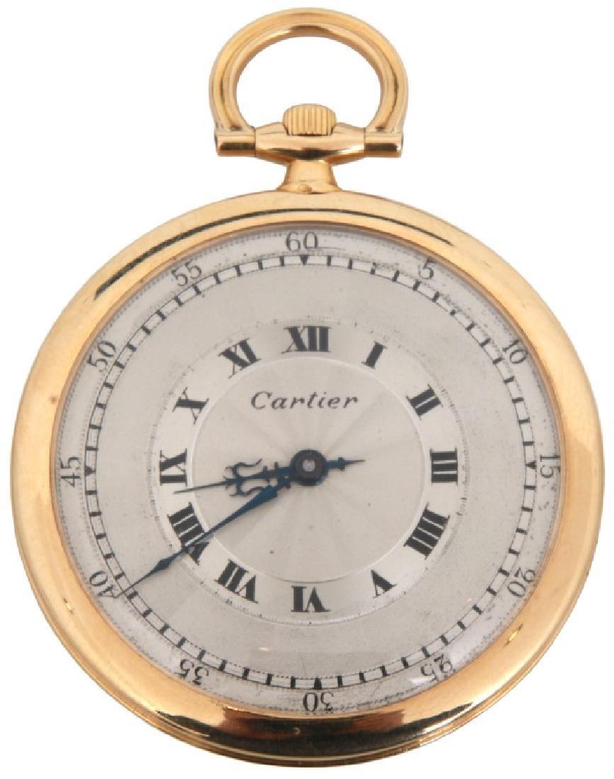 18K Cartier Ultra Thin Pocket Watch