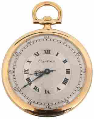 K Cartier Ultra Thin Pocket Watch