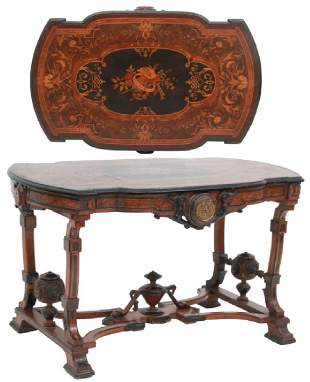 Inlaid Walnut Parlor Table