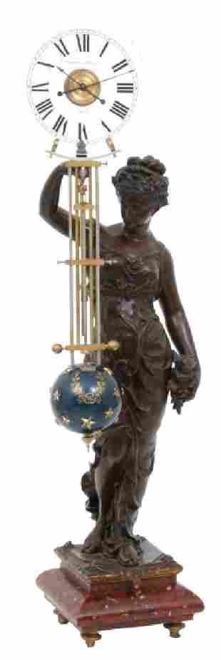 Houdin Figural Mystery Swinger Clock