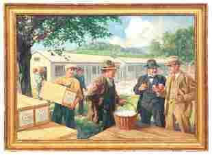 "Anton Otto Fischer O/C ""The Egg Buyers"""