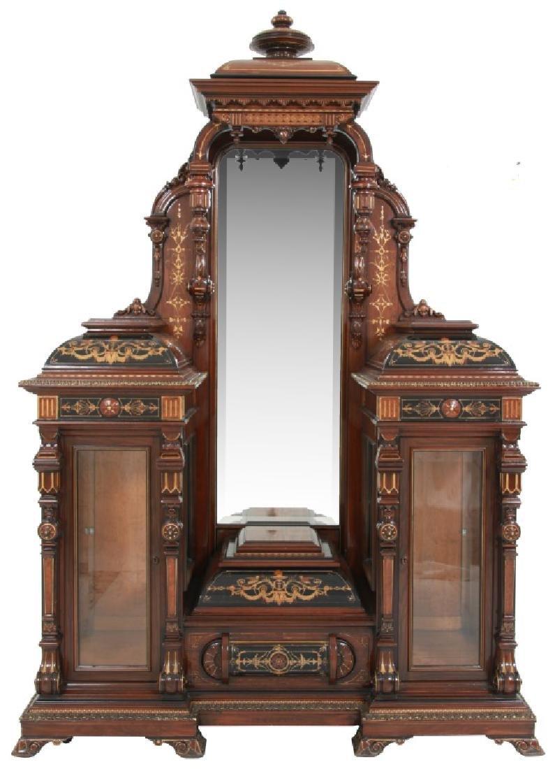 Attr. Pottier & Stymus Rosewood Parlor Cabinet