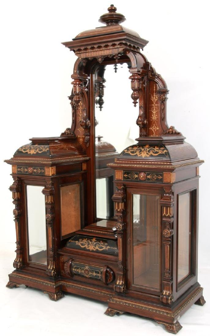 Attr. Pottier & Stymus Rosewood Parlor Cabinet - 2