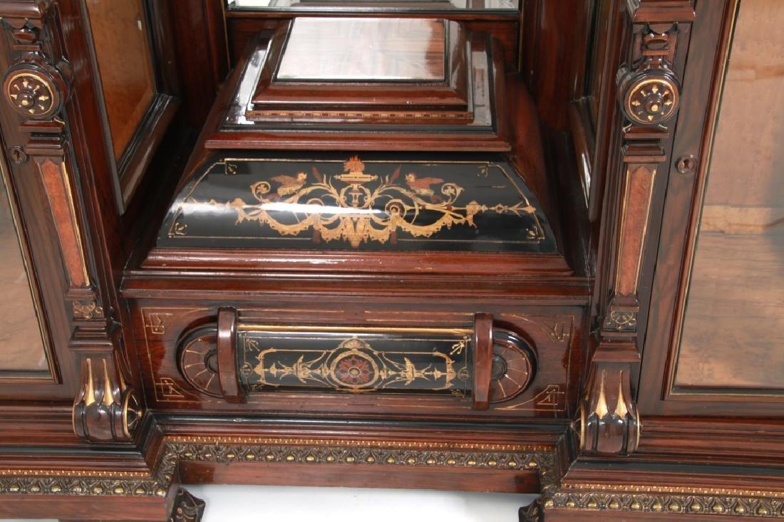 Attr. Pottier & Stymus Rosewood Parlor Cabinet - 4