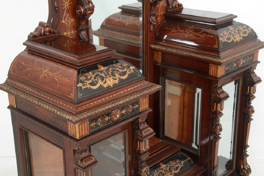 Attr. Pottier & Stymus Rosewood Parlor Cabinet - 7