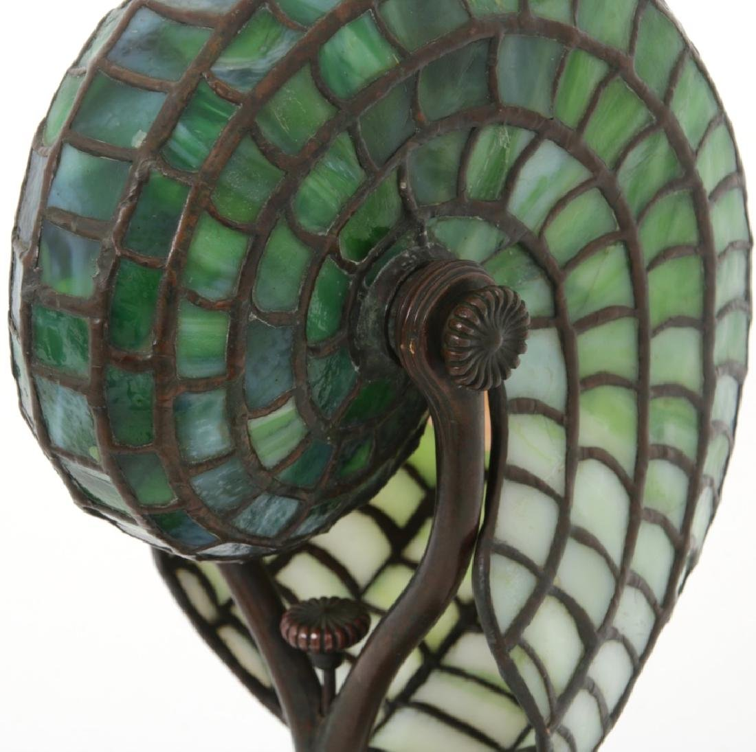 Tiffany Studios Leaded Nautilus Desk Lamp - 10