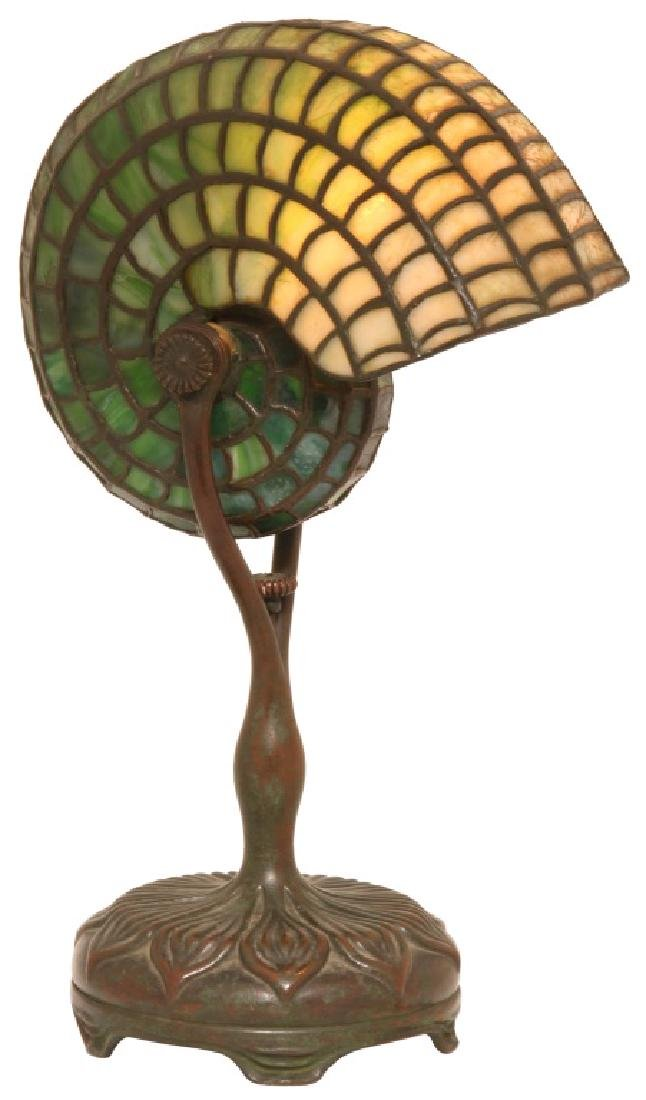 Tiffany Studios Leaded Nautilus Desk Lamp