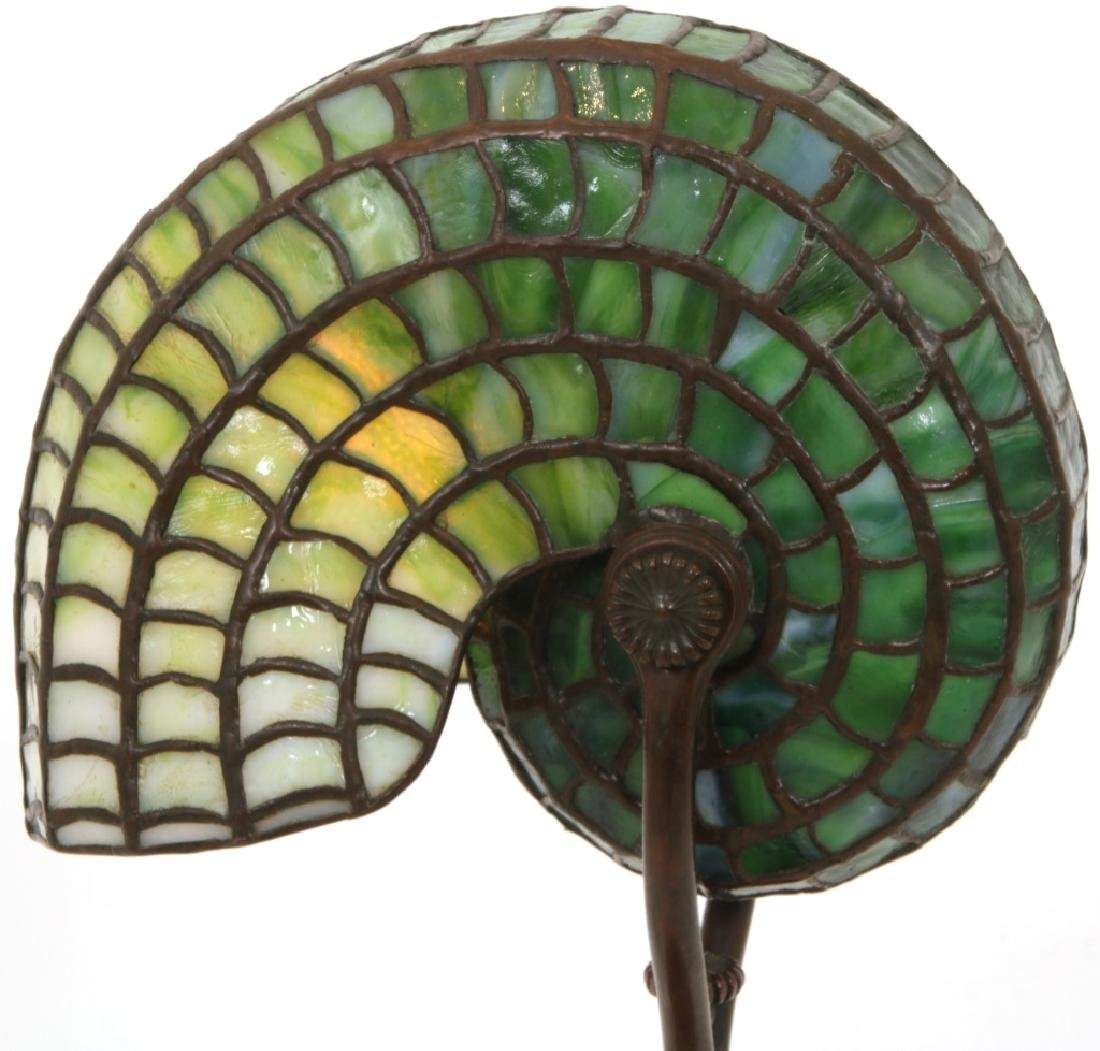 Tiffany Studios Leaded Nautilus Desk Lamp - 3