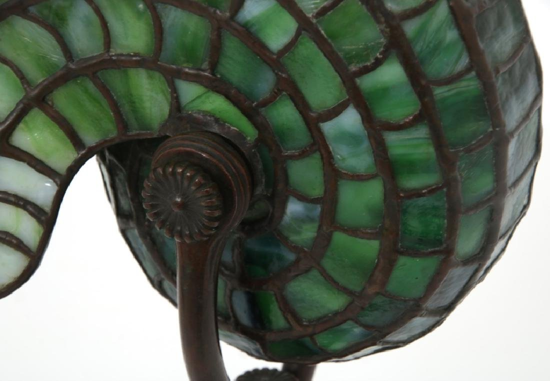 Tiffany Studios Leaded Nautilus Desk Lamp - 4