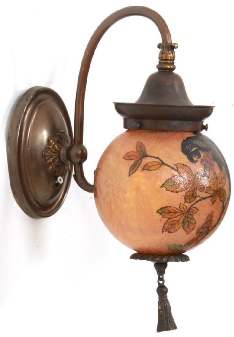 Rare Handel Parrot Ball Wall Sconce - 10