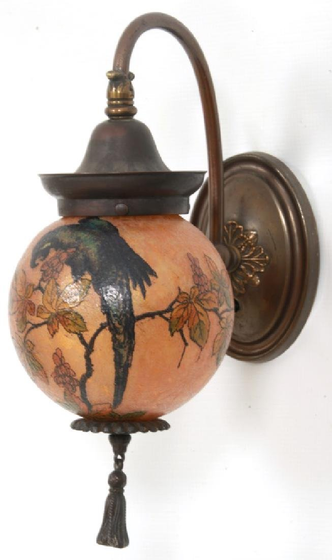 Rare Handel Parrot Ball Wall Sconce - 2