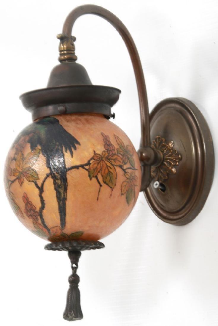 Rare Handel Parrot Ball Wall Sconce - 3