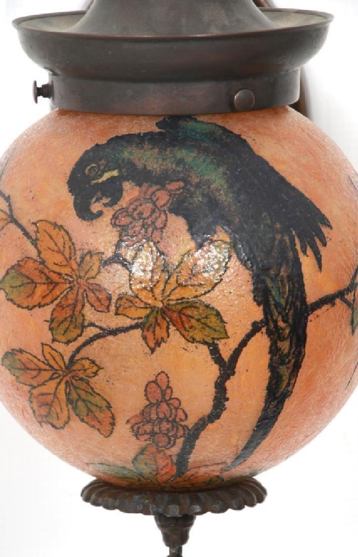Rare Handel Parrot Ball Wall Sconce - 4