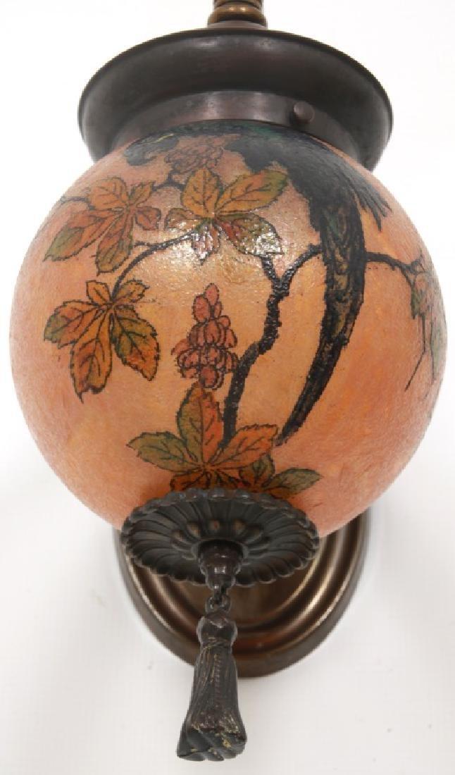 Rare Handel Parrot Ball Wall Sconce - 7