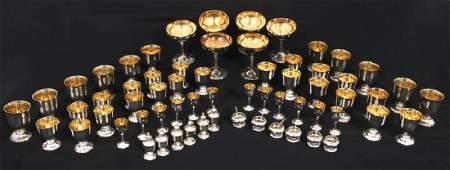 Linsky 57 Piece Sterling Silver Cordial Set
