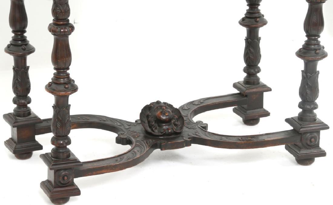 Carved Walnut Slant Front Desk with Cherub - 2