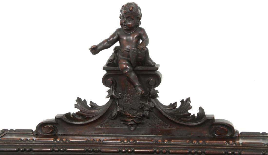 Carved Walnut Slant Front Desk with Cherub - 8