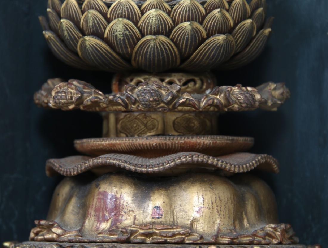 Japanese Lacquer Buddha Travel Shrine - 6