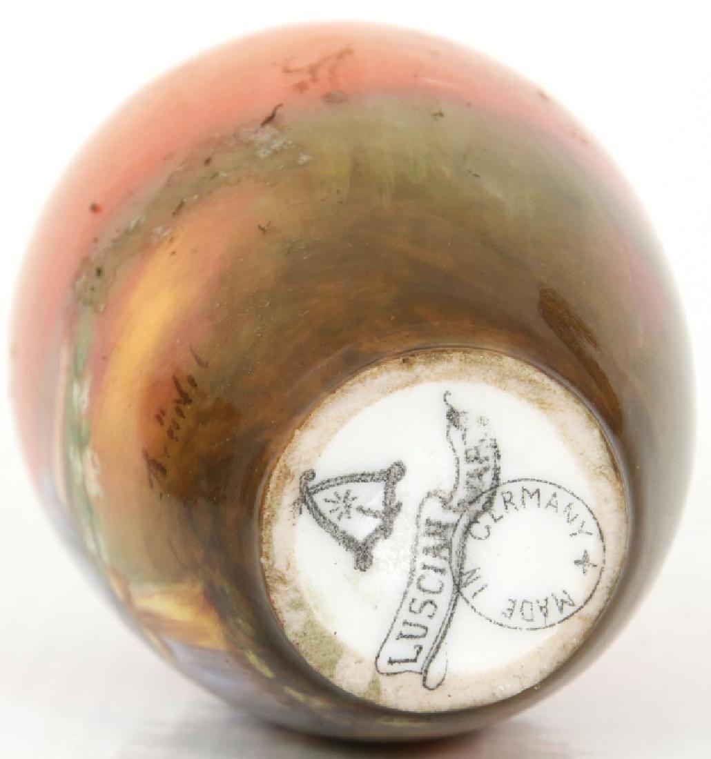 4 Porcelain and Enamel Cabinet Vases - 10