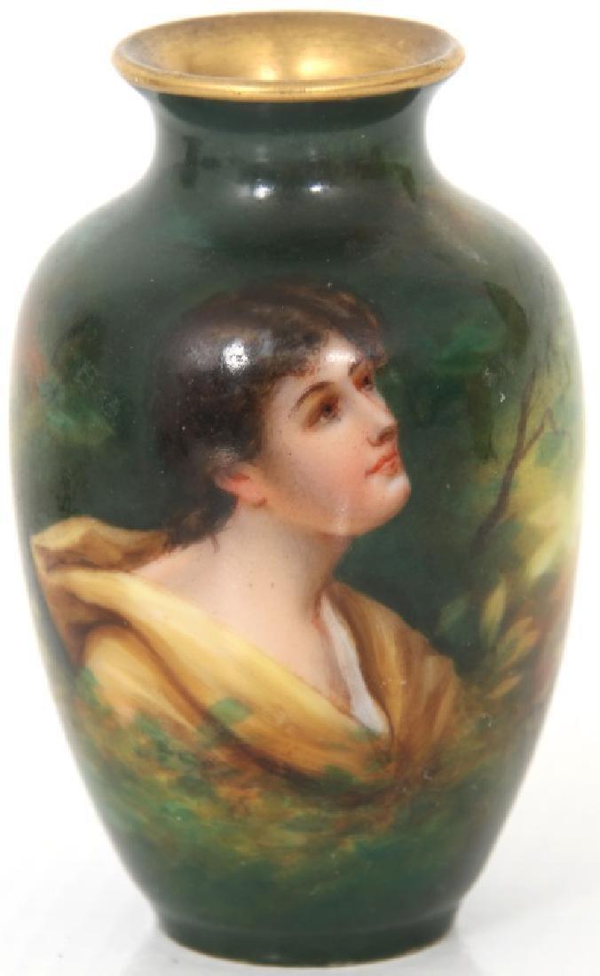 4 Porcelain and Enamel Cabinet Vases - 8