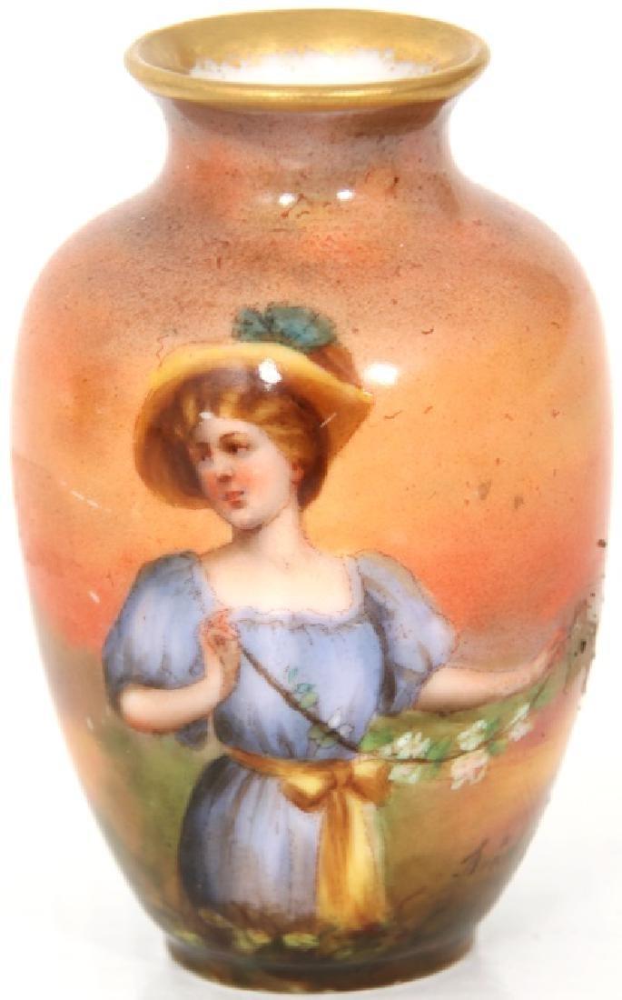 4 Porcelain and Enamel Cabinet Vases - 9