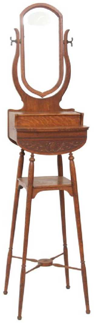 Paine Furniture Co Oak Shaving Stand