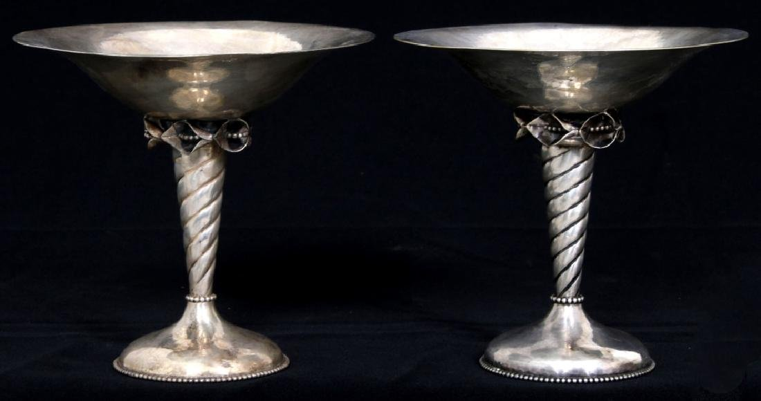 Pair of Sterling Silver Compotes