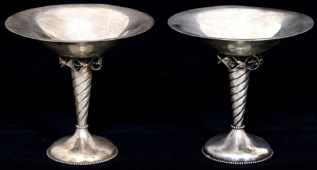 Pair of Sterling Silver Compotes - 2