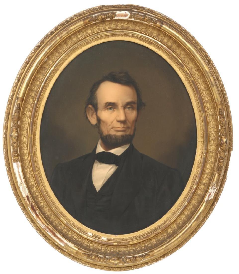 Abraham Lincoln Oval Portrait Chromolithograph
