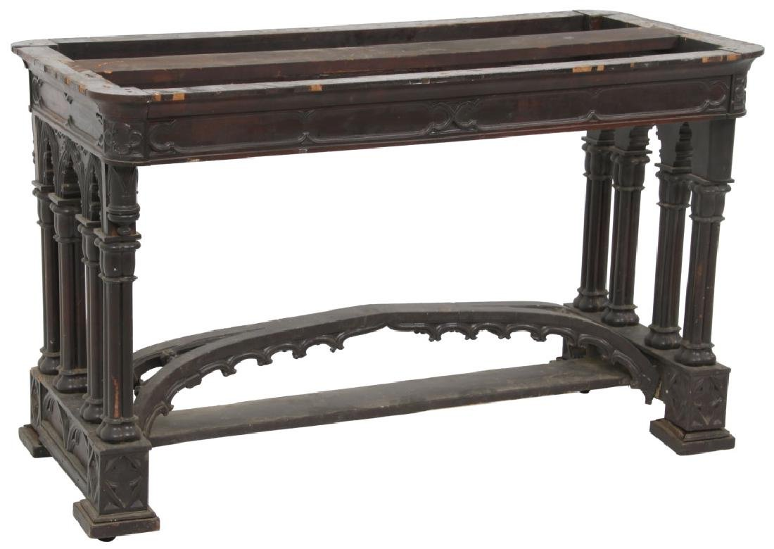 Gothic Rosewood Marble Top Table